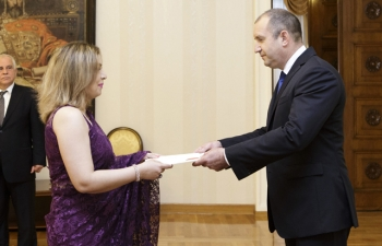 Presentation of Credentials by H.E. Ms. Pooja Kapur, Ambassador of India to H.E. Mr. Rumen Radev, President of the Republic of Bulgaria, 17 July 2017