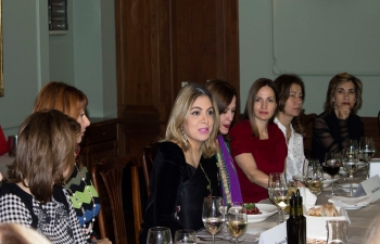 Ambassador Pooja Kapur addressed the Bulgarian Ladies Forum comprising senior women corporate leaders, CEOs, partners at professional firms, political leaders and journalists on 'The Role of Women in India' at a luncheon meeting at the Crystal Palace.