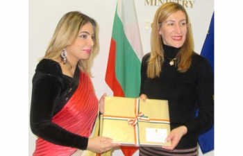 Bulgarian Minister of Tourism Nikolina Angelkova and Ambassador Pooja Kapur had excellent meeting to discuss how to enhance tourist inflows and tourism related investment between India and Bulgaria
