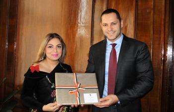 Ambassador Pooja Kapur had a productive meeting with Bulgarian Deputy Economy Minister  Alexander Manolev on 9 January about holding the next meeting of the India-Bulgaria Joint Economic, Scientific & Technical Commission at an early date.