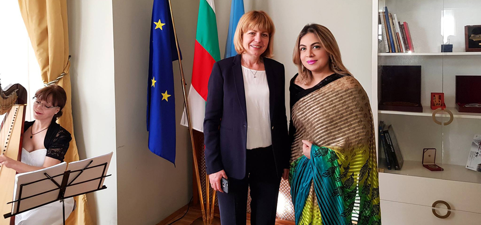 Ambassador Pooja Kapur exchanged festive greetings with the Mayor of Sofia, Ms. Yordanka Fandakova on 14 December 2017 at an end-of-year reception hosted by the latter