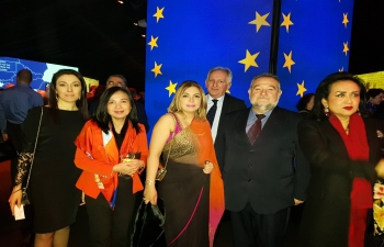 Ambassador Pooja Kapur attended the stunning Opening Ceremony of the Bulgarian Presidency of the EU at the Ivan Vazov National Theatre in Sofia on 11 January.