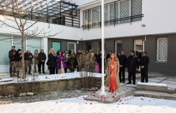 The Embassy of India, Sofia celebrated the 69th Republic Day of India with a flag-hoisting ceremony in the Chancery premises. Indian nationals, persons of Indian origin as well as friends of India attended the ceremony.