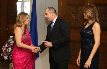 At a New Year Reception, President Rumen Radev identified India as one of the key countries that Bulgaria was working to enhance relations with. Ambassador Pooja Kapur seen here greeting the President and First Lady.