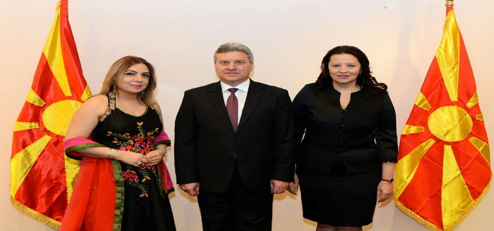 Ambassador Pooja Kapur attended a Reception hosted by H.E. President Dr. Gjorge Ivanov of Macedonia and First Lady Madame Maya Ivanova on 18 January 2018 in Gevgelija for the diplomatic corps to mark the Orthodox Christmas and New Year.