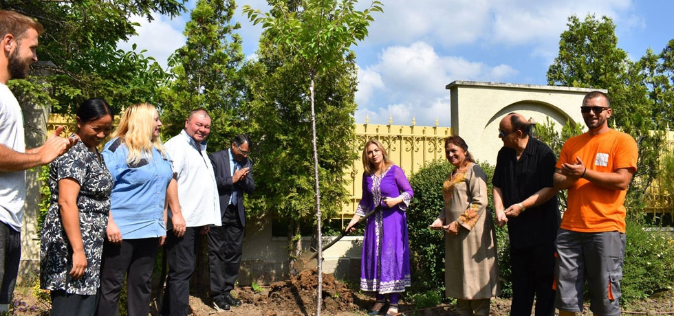World Environment Day was celebrated with a tree planting ceremony at the Embassy Residence on 5 June 2018