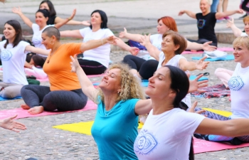 International Yoga Day was celebrated with great fervour at Mother Teresa's Memorial House in Skopje, Macedonia on 21 June.2018
