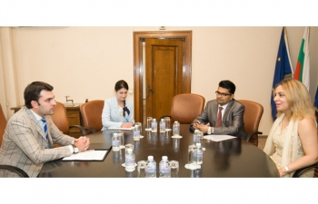 Ambassador Pooja Kapur had an excellent meeting with Deputy Foreign Minister of Bulgaria Georg Georgiev wherein they discussed enhancing cooperation between India and Bulgaria in cutting edge forward looking sectors including high technology, research and development, education and skill development, etc.
