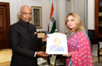 Ambassador Pooja Kapur called on Hon'ble President Ram Nath Kovind   at Rashtrapati Bhawan and seek his guidance and support for further enhancing the multi-faceted India-Bulgaria relationship.