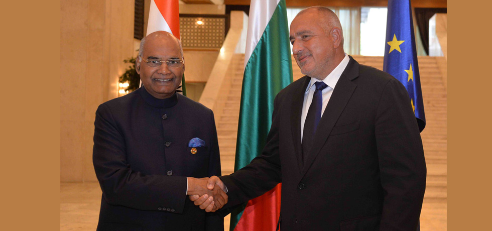 President of India H.E. Mr. Ram Nath Kovind held talks with Prime Minister of Bulgaria H.E. Mr. Boyko Borissov on 6 September 2018.
