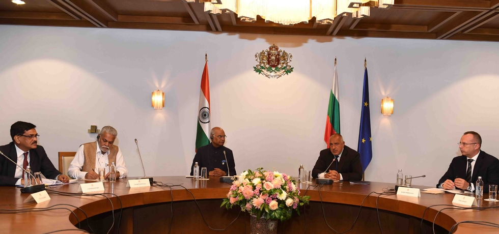President of India H.E. Mr. Ram Nath Kovind met Bulgarian Prime Minister H.E. Mr. Boyko Borissov at picturesque Boyana Residence in  Sofia on 6 September 2018  and held  high level diplomatic meetings.