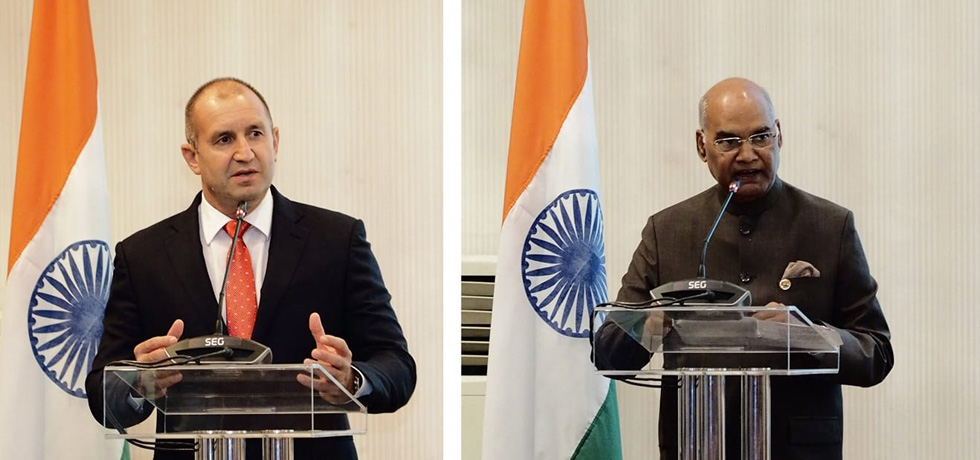 President of India H.E. Mr. Ram Nath Kovind and President of Bulgaria H.E. Mr. Rumen Radev addressed India - Bulgaria Business Forum on 5 September 2018.