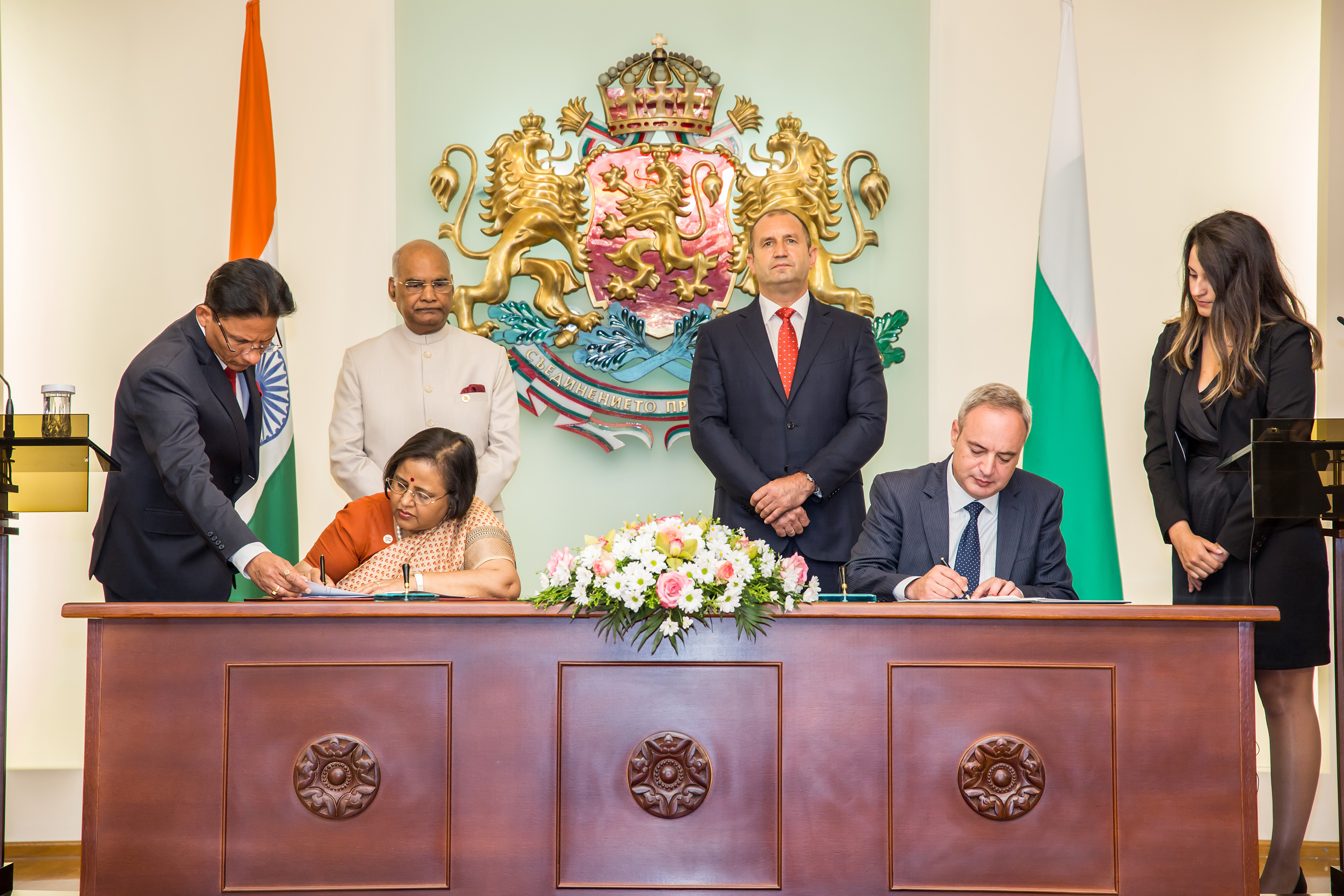 During the visit of Honourable President of India H.E. Mr. Ram Nath Kovind to Bulgaria, 5 MoUs on Cooperation in Science & Technology, Civil Nuclear, Investment, Tourism, and Establishment of Hindi Chair at Sofia University were signed