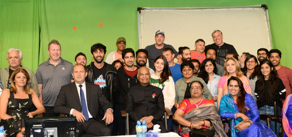 President of India H.E. Mr. Ram Nath Kovind with team Brahmastra  during his visit to Bulgaria.