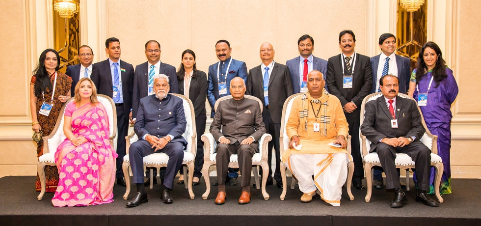President of India H.E. Mr. Ram Nath Kovind with members of India Business delegation during his visit to Bulgaria