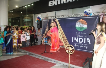 A Festival of India was inaugurated by Ambassador Pooja Kapur in Varna on 13-14 October 2018. Organised entirely with local resources, the festival gave the citizens of the Black Sea port city an authentic flavour of Indian dance, music, yoga, cuisine, fashion, textiles, art, henna, handicrafts and other Indian products.