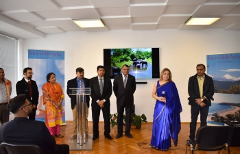 Ambassador Pooja Kapur hosted a welcome reception at the Embassy premises on 25 November 2018 for Indian and Indian origin students studying in various universities in Bulgaria as part of the Government of India's outreach initiatives and said Indian Embassy was their home away from home.