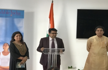 "In preparation to celebrate 5 International Day of Yoga, Embassy of India, Sofia in association with Devam Foundation organized a lecture by Vaidya Adwait Tripathi on ""Yoga and Ayurveda: The ancient wisdom of Ayurveda and Yoga for health and vitality."