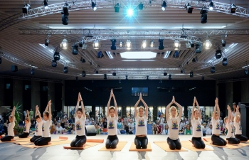 The 5th International Day of Yoga was celebrated with great fanfare in Sofia at the prestigious National Palace of Culture on 16 June 2019.