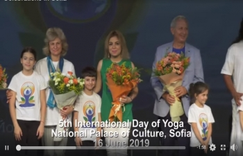 A short video to give a flavor of the celebrations of International Day of Yoga  at the prestigious National Palace of Culture in Sofia