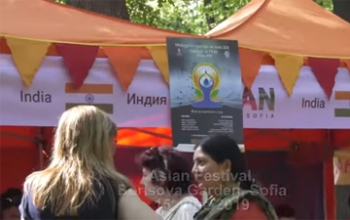 India had a standout presence at the 3rd Asian Festival in Borisova Garden with Kathkali, Yoga, Bhangra and a stall showcasing handicrafts, henna application, sari tying, cuisine, etc.
