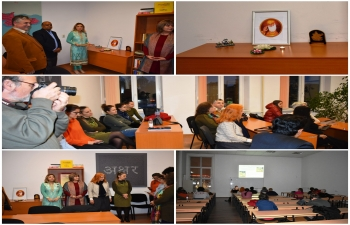 To commemorate the 550th birth anniversary of Guru Nanak Devji, the Embassy of India, Sofia and the Centre for Eastern Languages and Cultures of Sofia University organized a joint event at Sofia University.
