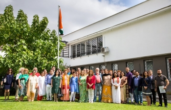 Embassy of India, Sofia celebrated the 73rd Independence Day of India with great enthusiasm.