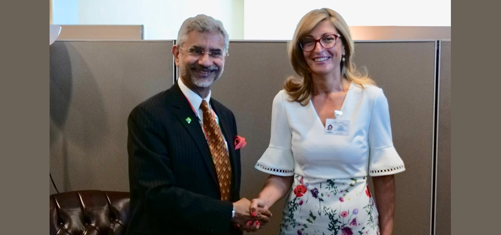 Meeting between Minister of External Affairs of India H.E. Dr. S. Jaishankar and Deputy Prime Minister for Judicial Reform and Minister for Foreign Affairs of Bulgaria H.E. Ms. Ekaterina Zaharieva