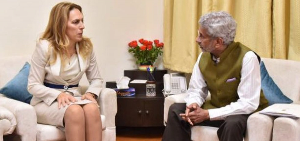 Meeting between Minister of External Affairs of India H.E. Dr. S. Jaishankar and Deputy Prime Minister for Economic and Demographic Policy, Bulgaria H.E. Mrs. Mariyana Nikolova at New Delhi on 20 November 2019.