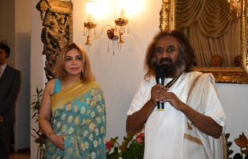 Sri Sri Ravi Shankar at the Indian Residence on 27th January, 2020.