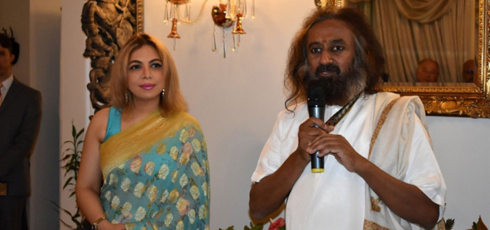 A special evening with H.H. Gurudev Sri Sri Ravi Shankar at the Indian Residence on 27th January, 2020