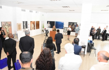 Mahatma Gandhi - The Vigour of Truth exhibition comprising specially created artworks by leading Bulgarian artist at the new Mahatma Gandhi Event Centre, Plovdiv