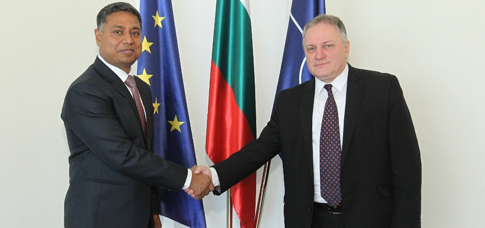 Ambassador Sanjay Rana meeting with Deputy Foreign Minister Mr. Milen Lyutskanov