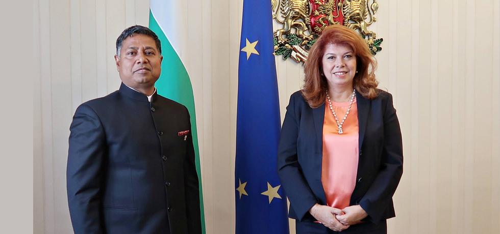 Ambassador Sanjay Rana called on Hon'ble Vice-President of the Republic of Bulgaria, H.E. Ms. Iliana Iotova